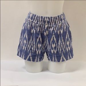 Alice + Olive Ikat Aztec high waisted blue shorts